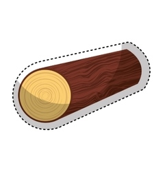 Wooden logs resource icon vector