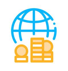 Worldwide money icon outline vector