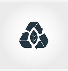 Zero emission creative icon monochrome style vector