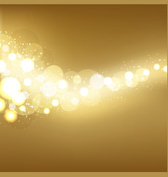 Golden Festive Lights Background vector image