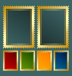 Golden stamp vector image vector image