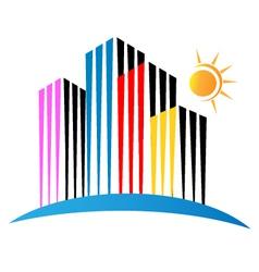 Modern buildings logo vector image vector image