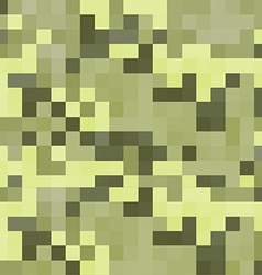 modern pixel camouflage green pattern vector image