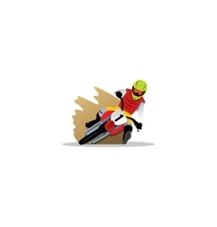Motocross sign vector image