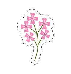 pink flower decoration image cut line vector image