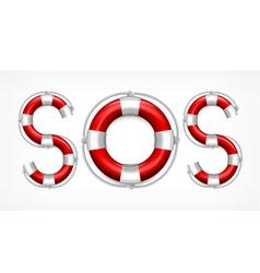 SOS symbol vector image vector image