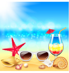 Summer holidays beach background vector image vector image