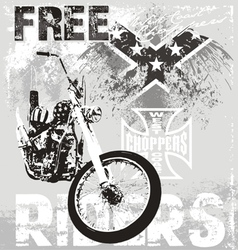 choppers riders vector image vector image