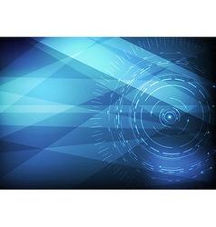 Computer scientific background template vector image