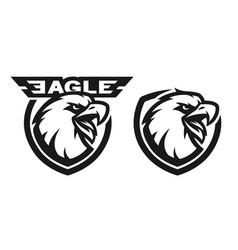 head of the eagle monochrome logo vector image vector image