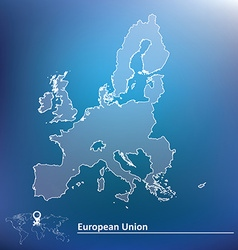 Map of European Union 2015 vector image