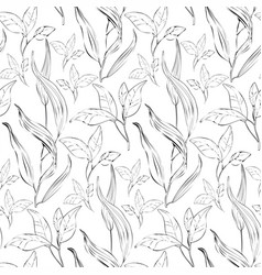 floral seamless pattern with plants - vector image vector image