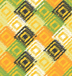 Ikat fabric seamless background vector