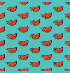 seamless pattern background with watermelon slice vector image vector image