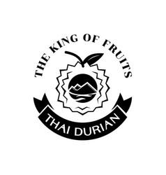 thai durian king fruit logo vector image vector image