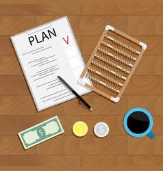 write financial plan vector image