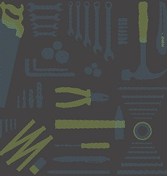 DIY toolsHalftone vector image vector image