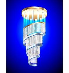 modern chandelier vector image vector image