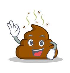 Okay poop emoticon character cartoon vector