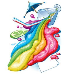 Rainbow cocktail vector image