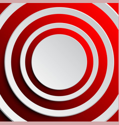 a concentric red elements the background vector image