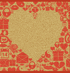 background valentines day frame in the shape of a vector image