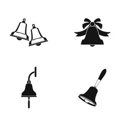 bell icon set simple style vector image