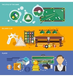 Billiards Banner Set vector