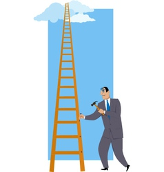 Building a ladder of success vector image