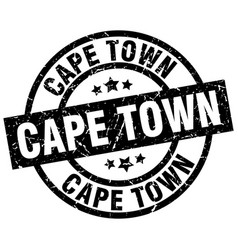 Cape town black round grunge stamp vector