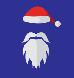 cartoon santa claus custome mask vector image