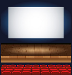 cinema entertainment with chairs and display scene vector image