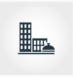 city services creative icon monochrome style vector image