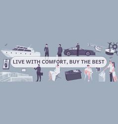 Comfort lives flat composition vector