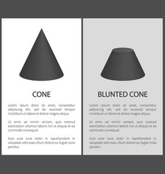 cone and blunted cone set vector image