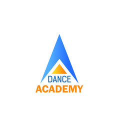 dance icon for ballet studio sport school design vector image
