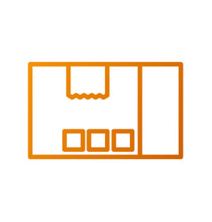 delivery cardboard box pack cargo icon vector image vector image