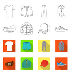 Design of man and clothing logo collection vector