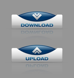 Download upload blue vector image