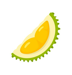 Durian fresh piece icon flat style vector