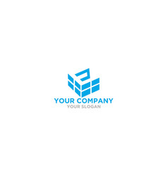 E brick logo design vector