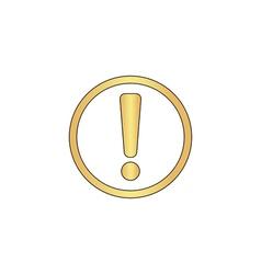 Exclamation computer symbol vector image