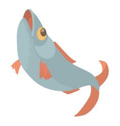 Fish icon cartoon style vector