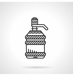 Flat line water cooler bottle icon vector image