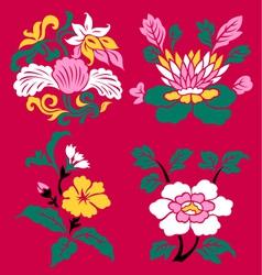 floral emblem set vector image