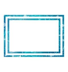 Frame of ice Winter frame vector image