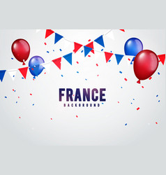 france celebration background with banner vector image
