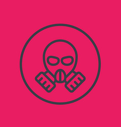 gas mask line icon in circle vector image