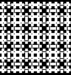 Geometric abstract black and white pattern vector