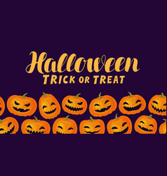 halloween trick or treat funny greeting card vector image